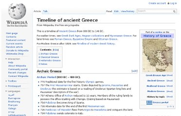 http://en.wikipedia.org/wiki/Timeline_of_ancient_Greece