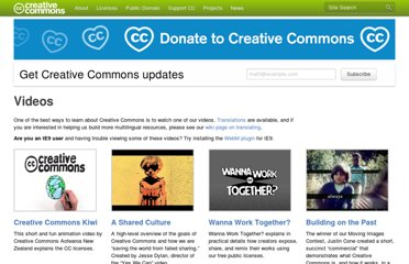 http://creativecommons.org/videos
