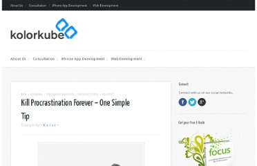 http://kolorkube.com/klick/kill-procrastination-forever-one-simple-tip/