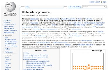 http://en.wikipedia.org/wiki/Molecular_dynamics#Related_software