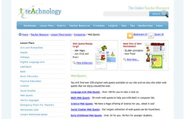 http://www.teach-nology.com/teachers/lesson_plans/computing/web_quests/