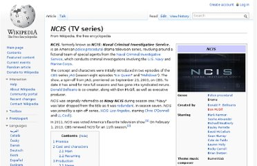 http://en.wikipedia.org/wiki/NCIS_(TV_series)