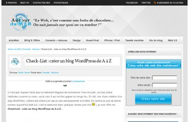 http://www.autourduweb.fr/check-list-creer-blog-wordpress/