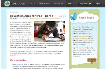 http://blog.learnboost.com/blog/education-apps-for-ipad-special-needs/