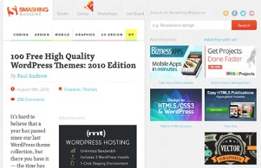 http://wp.smashingmagazine.com/2010/08/19/100-free-high-quality-wordpress-themes-for-2010/