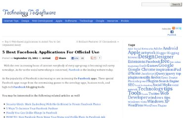 http://technologytosoftware.com/top-5-facebook-applications-for-official-use.html