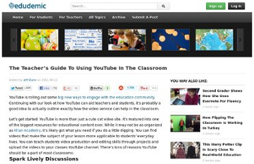 http://edudemic.com/2011/09/youtube-in-classroom/