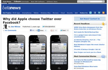 http://betanews.com/2011/06/12/why-did-apple-choose-twitter-over-facebook/