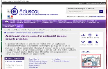http://eduscol.education.fr/cid47410/appariement-nouvelle-procedure.html