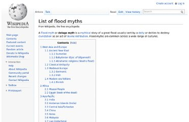 http://en.wikipedia.org/wiki/List_of_flood_myths