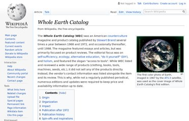 http://en.wikipedia.org/wiki/Whole_Earth_Catalog