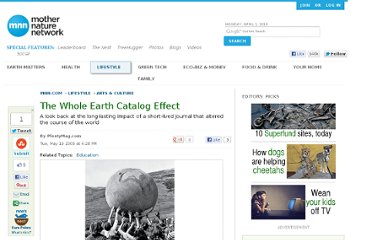 http://www.mnn.com/lifestyle/arts-culture/stories/the-whole-earth-catalog-effect