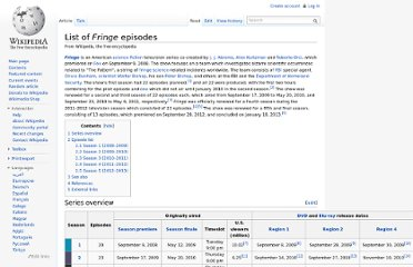 http://en.wikipedia.org/wiki/List_of_Fringe_episodes#Season_4_.282011.E2.80.932012.29