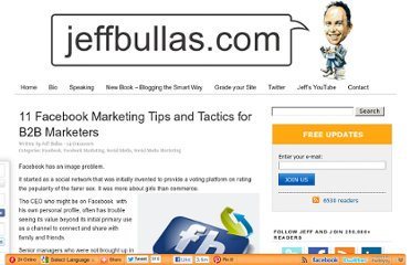 http://www.jeffbullas.com/2011/09/23/11-facebook-marketing-tips-and-tactics-for-b2b-marketers/