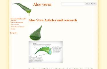 ALOE VERA: A SHORT REVIEW
