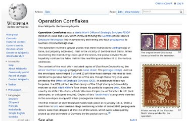 http://en.wikipedia.org/wiki/Operation_Cornflakes