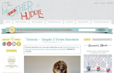 http://www.themotherhuddle.com/tutorial-simple-3-twists-hairstyle/