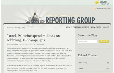 http://reporting.sunlightfoundation.com/2011/palestinian-statehood-may-be-affected-us-lobbying/