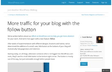 http://en.blog.wordpress.com/2011/09/21/more-traffic-for-your-blog-with-the-follow-button/