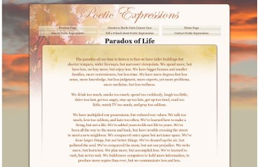 http://www.poeticexpressions.co.uk/POEMS/Paradox%20of%20LIfe.htm