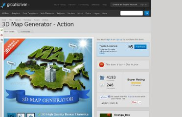 http://graphicriver.net/item/3d-map-generator-action/308808