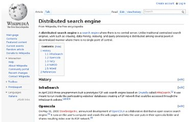 http://en.wikipedia.org/wiki/Distributed_search_engine