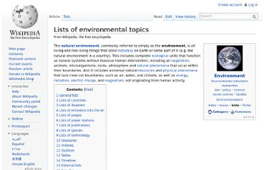 http://en.wikipedia.org/wiki/Lists_of_environmental_topics