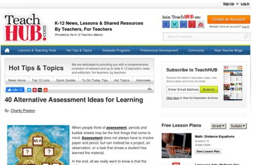 http://www.teachhub.com/40-alternative-assessments-learning