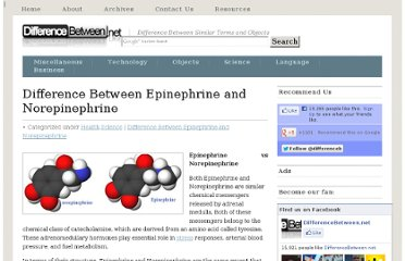 http://www.differencebetween.net/science/health/difference-between-epinephrine-and-norepinephrine/