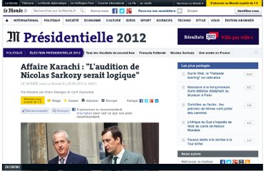 http://www.lemonde.fr/election-presidentielle-2012/article/2011/09/23/affaire-karachi-l-audition-de-nicolas-sarkozy-serait-logique_1576957_1471069.html#xtor=AL-32280258