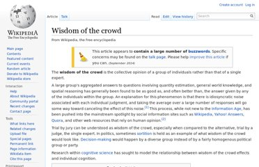 http://en.wikipedia.org/wiki/Wisdom_of_the_crowd