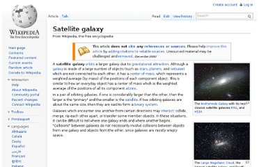 http://en.wikipedia.org/wiki/Satellite_galaxy