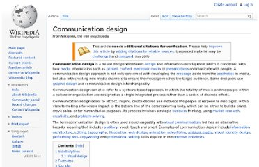 http://en.wikipedia.org/wiki/Communication_design