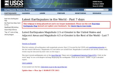http://earthquake.usgs.gov/earthquakes/recenteqsww/Quakes/quakes_all.php
