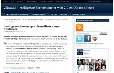 http://www.vedocci.fr/2010/01/13/intelligence-economique-anticiper/