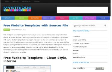 http://mystrious.com/free-website-templates-with-sources-file/