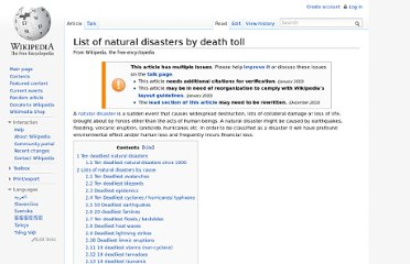 http://en.wikipedia.org/wiki/List_of_natural_disasters_by_death_toll
