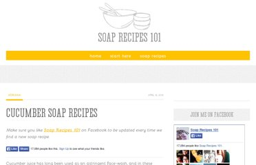 http://www.soaprecipes101.com/homemade-soap-recipes/cucumber-handmade-soap-recipe/