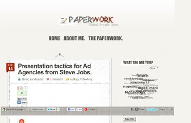 http://paperwork.co.in/2010/09/presentation-tactics-for-ad-agencies-from-steve-jobs/
