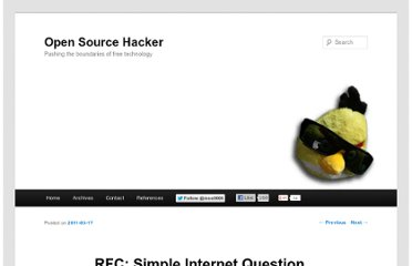 http://opensourcehacker.com/2011/03/17/rfc-simple-internet-question-asking-protocol-for-human-beings/