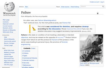 http://en.wikipedia.org/wiki/Failure