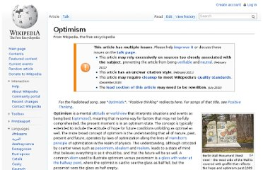 http://en.wikipedia.org/wiki/Optimism