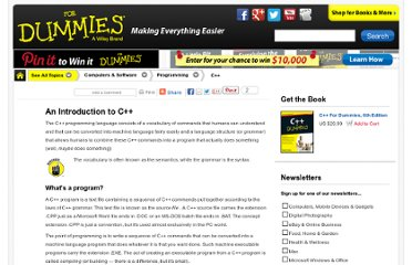 http://www.dummies.com/how-to/content/an-introduction-to-c.html