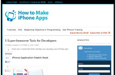 http://howtomakeiphoneapps.com/3-super-awesome-tools-for-developers/140/
