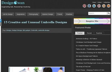http://www.designswan.com/archives/15-creative-and-unusual-umbrella-designs.html