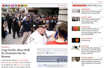 http://gawker.com/5843574/cop-throws-wall-st-protester-to-the-ground-for-no-obvious-reason