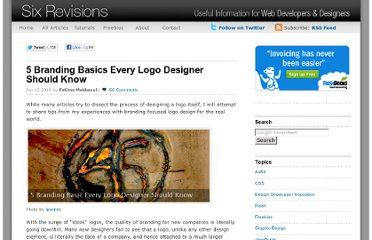 http://sixrevisions.com/graphics-design/5-branding-basics-every-logo-designer-should-know/