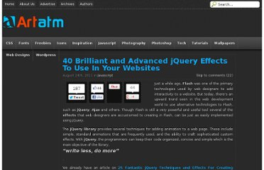 http://artatm.com/2011/08/40-brilliant-and-advanced-jquery-effects-to-use-in-your-websites/