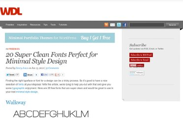 http://webdesignledger.com/freebies/20-super-clean-fonts-perfect-for-minimal-style-design