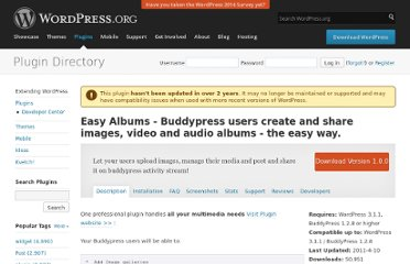 http://wordpress.org/extend/plugins/buddypress-easy-albums-photos-video-and-music/